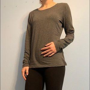 Gray, long sleeve shirt